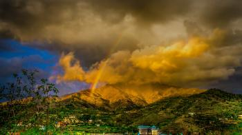 Rainbow on Top of the Mountain