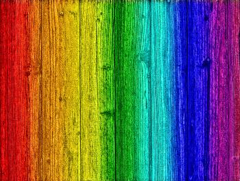 Rainbow on wood - Background