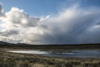 Raining on Mahleur National Wildlife Refuge, Oregon