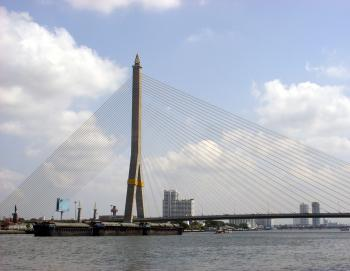Rama VIII Bridge and Chao Phraya River