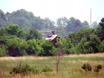 rc helicopter in flight
