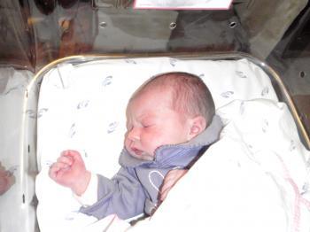 Recently newborn infant asleep