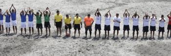 Reconocimiento Presidencial a la Selecta de Futbol Playa.