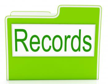 Records File Indicates Folders Business And Archive