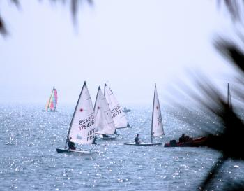Recreational Sport Yachting On The Ocean