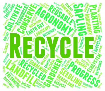 Recycle Word - Eco Friendly And Recycled
