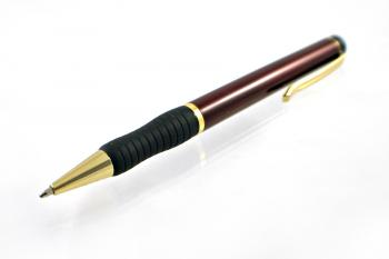 Red and golden pen
