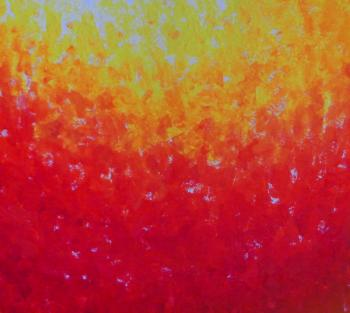 Red and Orange Paint Background
