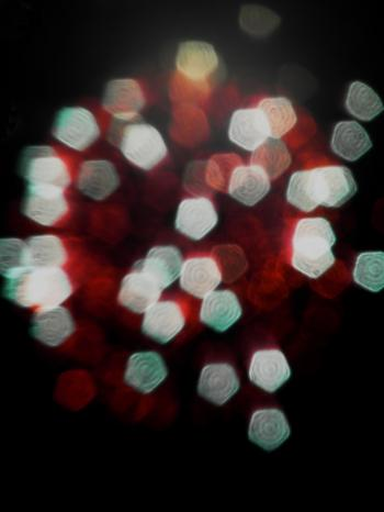 Red and White Light Bokeh