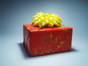 Red and Yellow Gift Wrap
