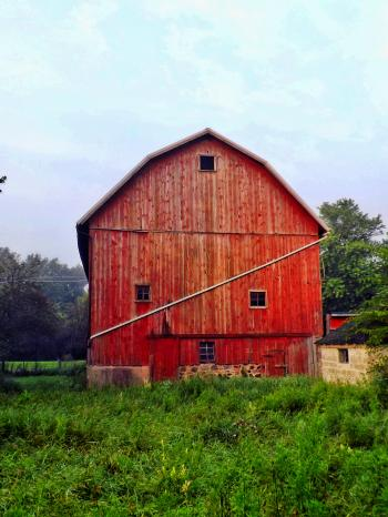 Red barn in Michigan