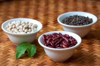 Red beans, white beans and lentils