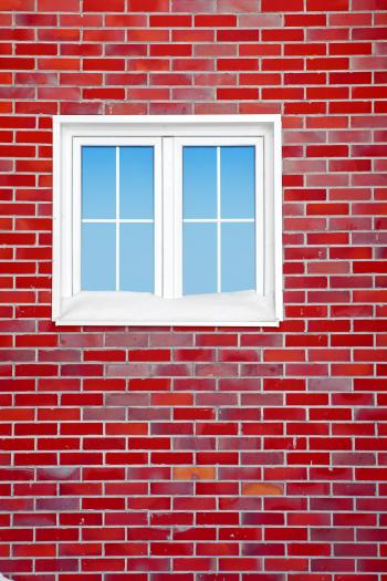 Red Brick Wall with Window