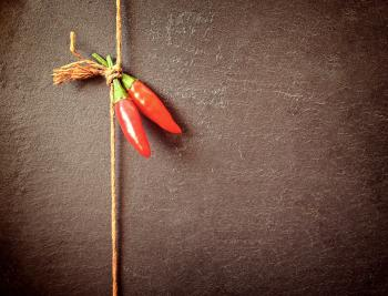 Red Chilli Peppers on a String