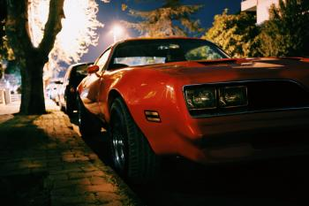 Red Classic Muscle Car
