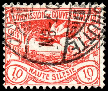 Red Coal Mine and Pigeon Stamp