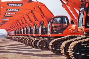 Red Doosan Ride-on Tractors
