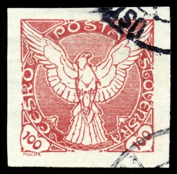 Red Falcon Stamp