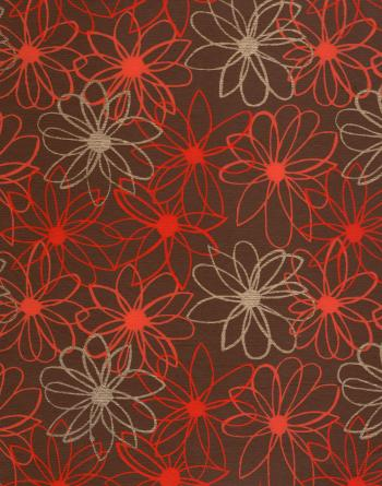Red Floral Pattern Paper