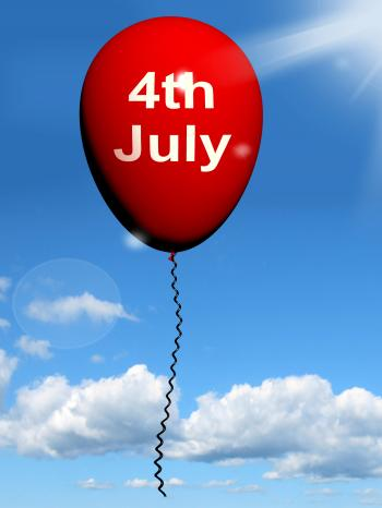 Red Fourth of July Balloon Shows Independence Spirit and Promotions