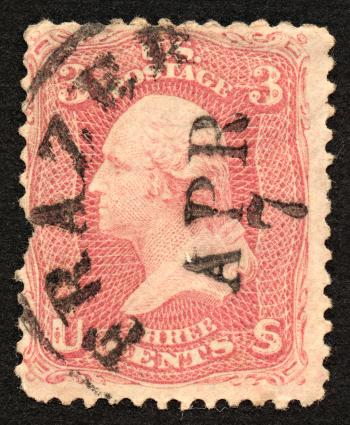 Red George Washington Stamp