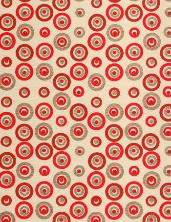 Red Gold Circles Paper