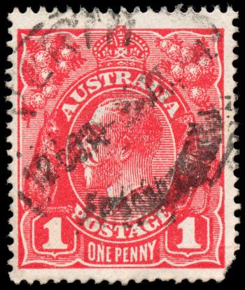 Red King George V Stamp