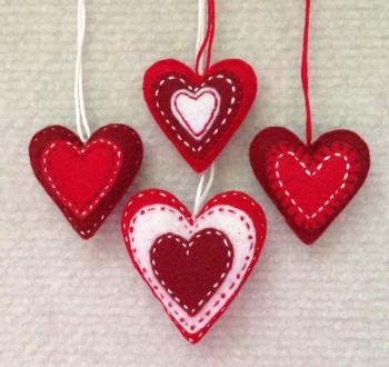 Red Love Heart Ornament