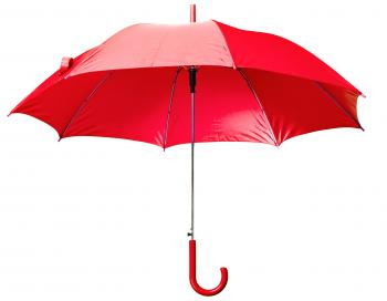Red Open Umbrella