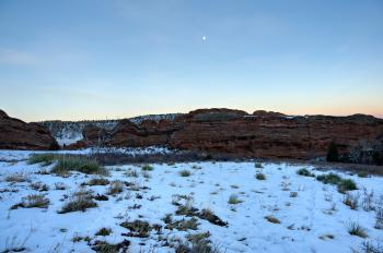 Red Rocks Twilight Moon
