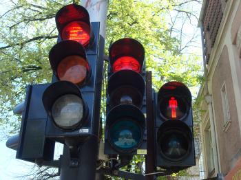 Red street lights