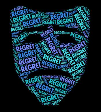 Regret Word Shows Sorry Regrets And Wordclouds