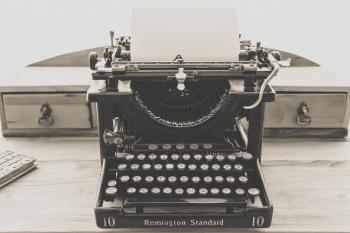 Remington Standard Typewriter in Greyscale Photography