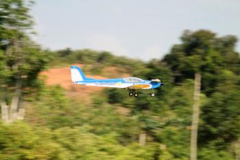 Remote Controlled Airplane Passing