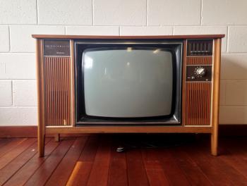 Retro 1970s TV set