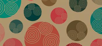 Retro-styled 70s background pattern