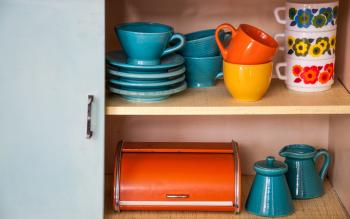 Retro vintage kitchenware ceramics