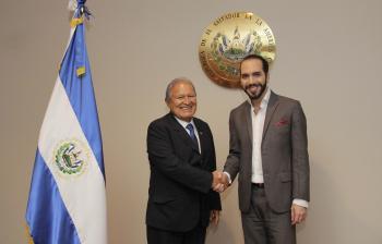 Reunión Presidente Sánchez Cerén con alcalde de San Salvador.