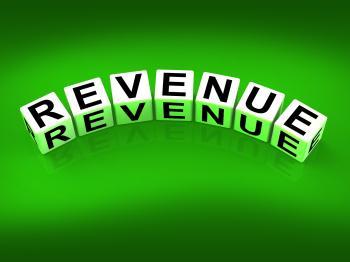 Revenue Blocks Mean Finances Revenues and Proceeds