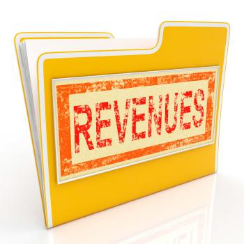 Revenues File Represents Business Document And Folder