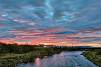 Reykjavik River Twilight