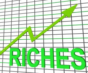 Riches Chart Graph Shows Increase Cash Wealth Revenue