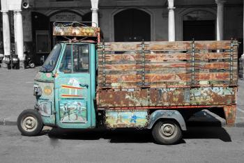 Rickshaw on the Road