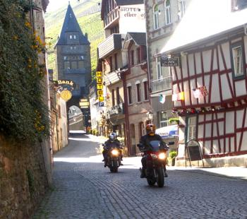 Riding Through the German town of Bachar