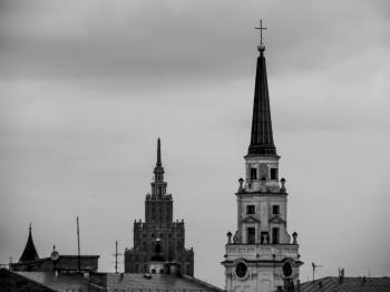 Riga's old city towers