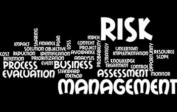 Risk management wordcloud