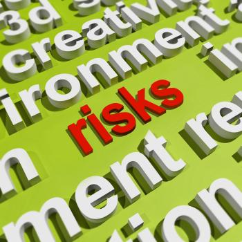 Risks In Word Cloud Shows Investment Risks And Economy Crisis