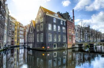 River Beside Houses