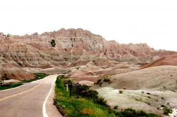 Road through the Desert Badlands