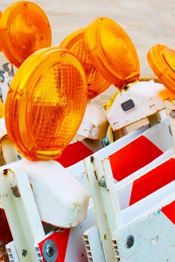 Road work flashers